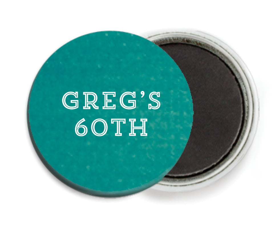 custom button magnets - turquoise - film edge (set of 6)
