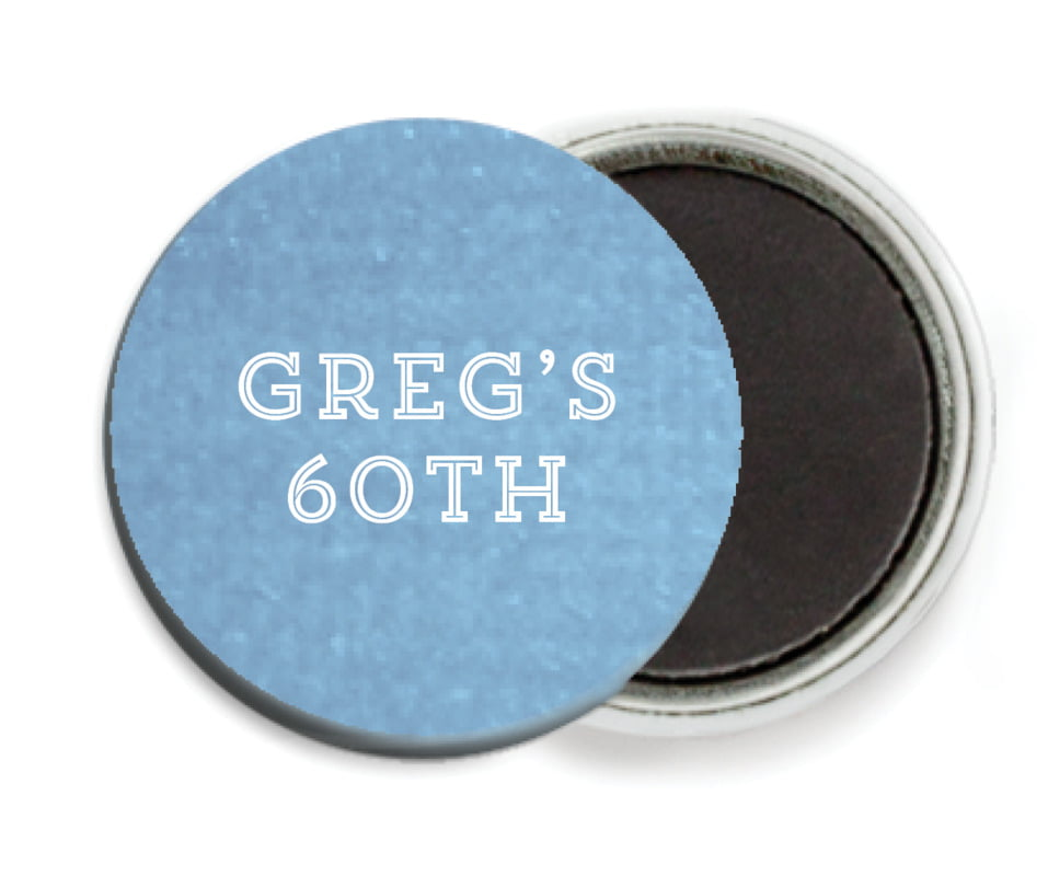 custom button magnets - blue - film edge (set of 6)