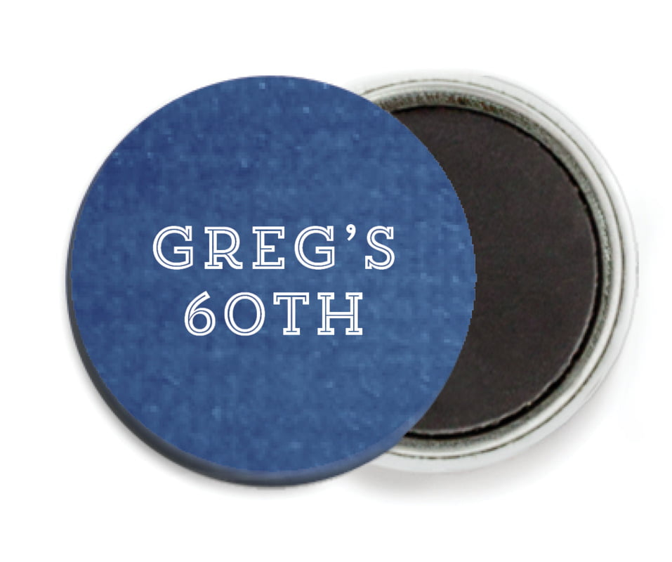 custom button magnets - deep blue - film edge (set of 6)