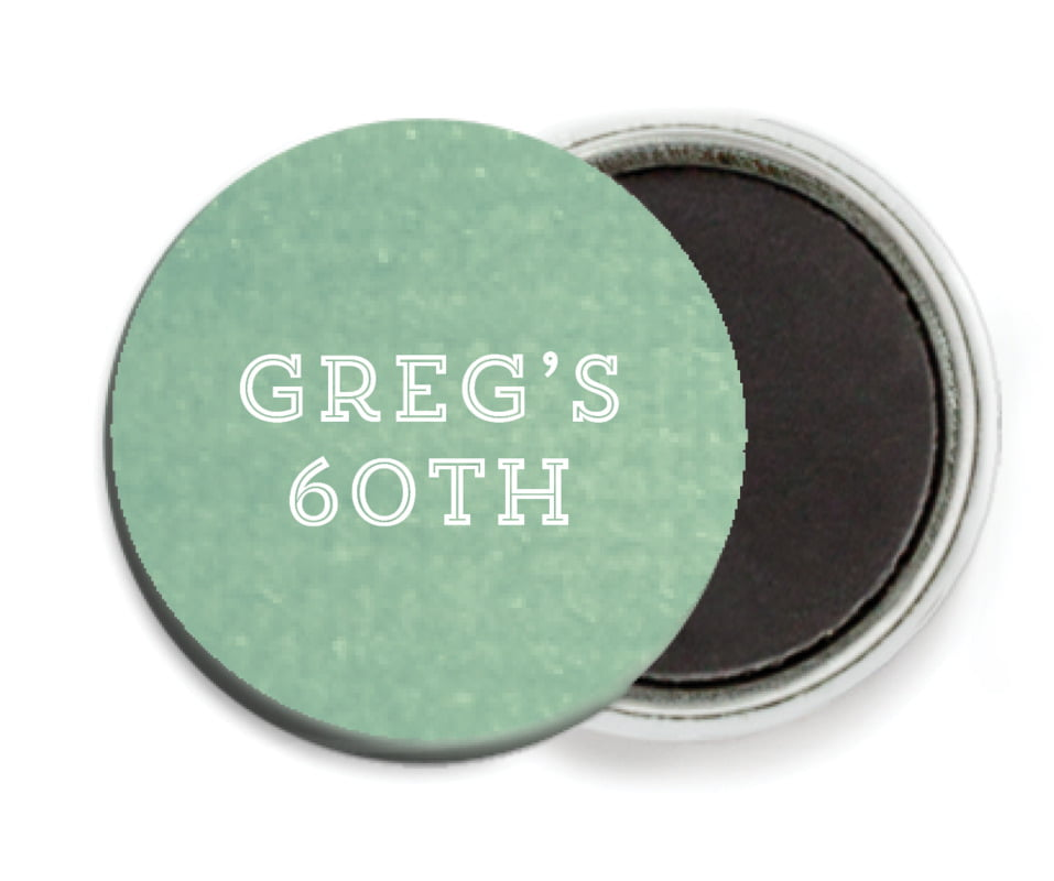custom button magnets - mint - film edge (set of 6)