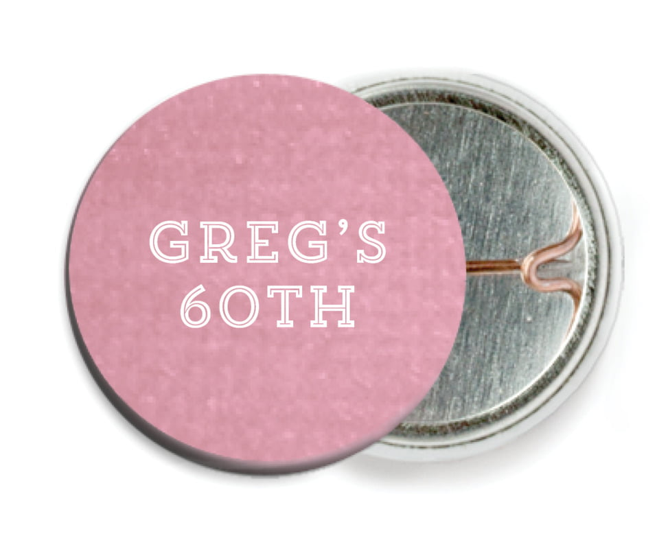 custom pin back buttons - pale pink - film edge (set of 6)