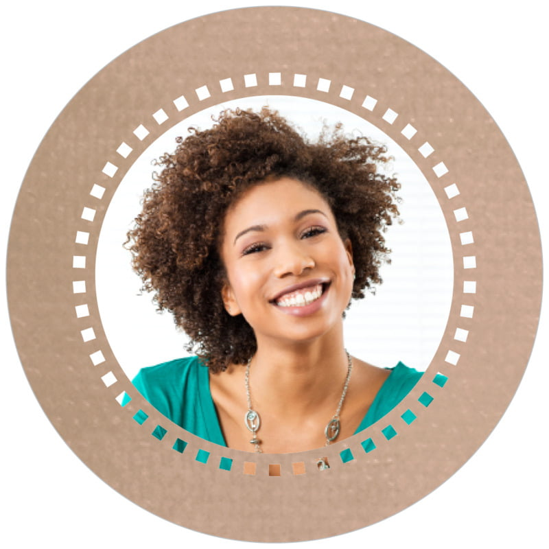 circle photo labels - mocha - film edge (set of 20)