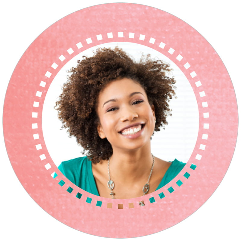 circle photo labels - grapefruit - film edge (set of 20)