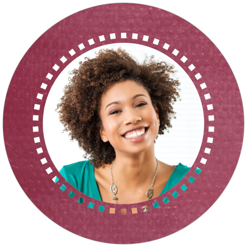 circle photo labels - burgundy - film edge (set of 20)