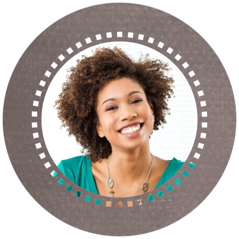 circle photo labels - saddle brown - film edge (set of 20)