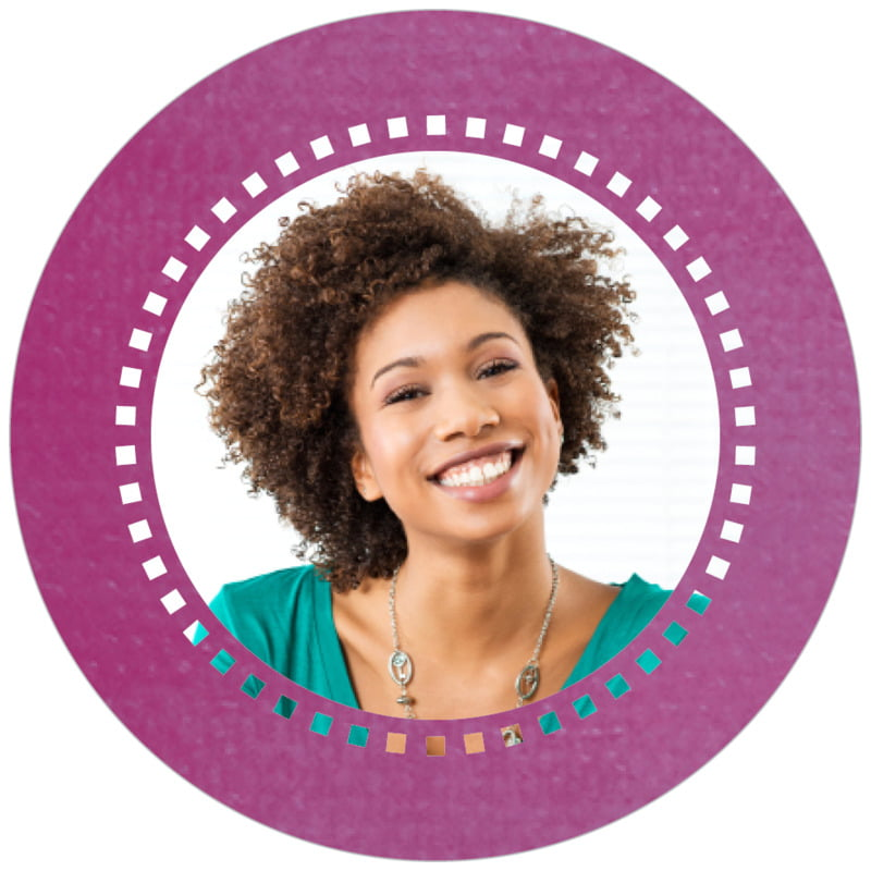 circle photo labels - radiant orchid - film edge (set of 20)