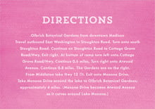 custom enclosure cards - bright pink - film edge (set of 10)