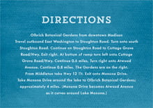 custom enclosure cards - bahama blue - film edge (set of 10)