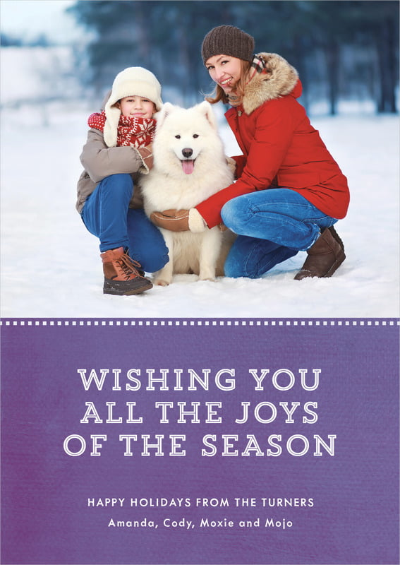 holiday cards - plum - film edge (set of 10)