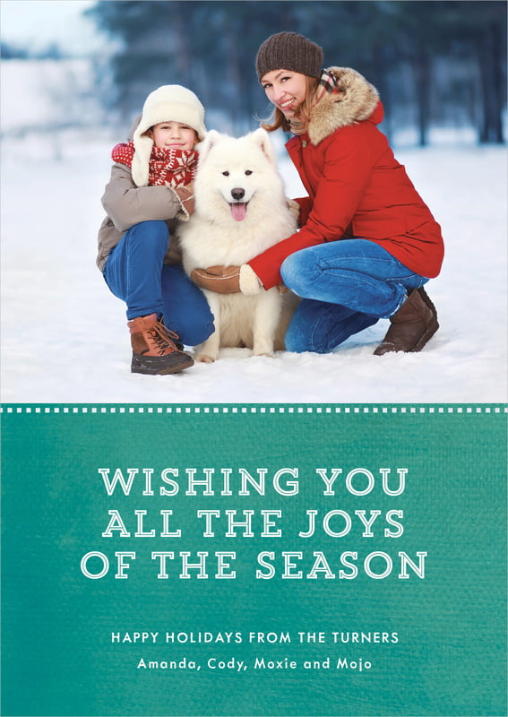 holiday cards - turquoise - film edge (set of 10)