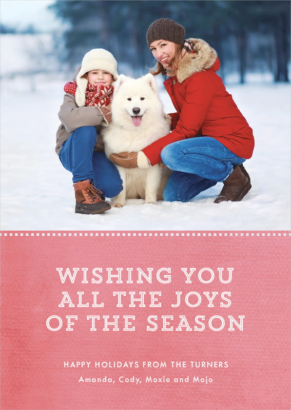 holiday cards - deep coral - film edge (set of 10)