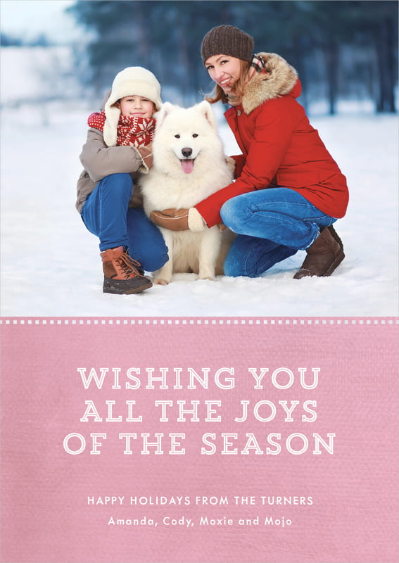 holiday cards - pale pink - film edge (set of 10)