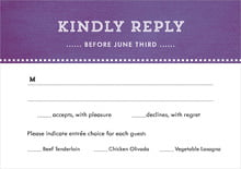 custom response cards - plum - film edge (set of 10)