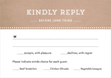 custom response cards - mocha - film edge (set of 10)