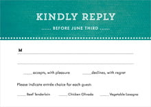 custom response cards - turquoise - film edge (set of 10)