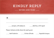 custom response cards - deep red - film edge (set of 10)