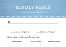 custom response cards - blue - film edge (set of 10)