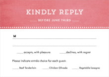 custom response cards - deep coral - film edge (set of 10)