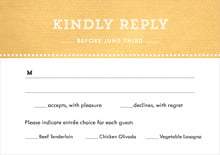 custom response cards - sunburst - film edge (set of 10)