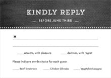 custom response cards - tuxedo - film edge (set of 10)
