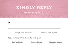custom response cards - pale pink - film edge (set of 10)