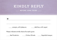 custom response cards - lilac - film edge (set of 10)