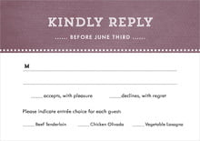 custom response cards - wine - film edge (set of 10)
