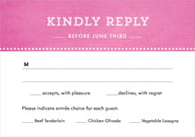 custom response cards - bright pink - film edge (set of 10)