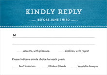 custom response cards - bahama blue - film edge (set of 10)