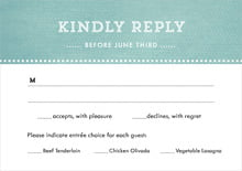 custom response cards - aruba - film edge (set of 10)
