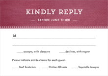 custom response cards - burgundy - film edge (set of 10)