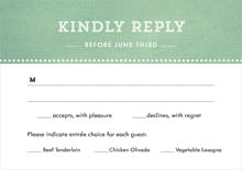 custom response cards - mint - film edge (set of 10)
