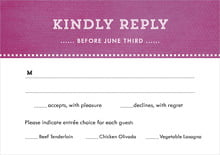 custom response cards - radiant orchid - film edge (set of 10)