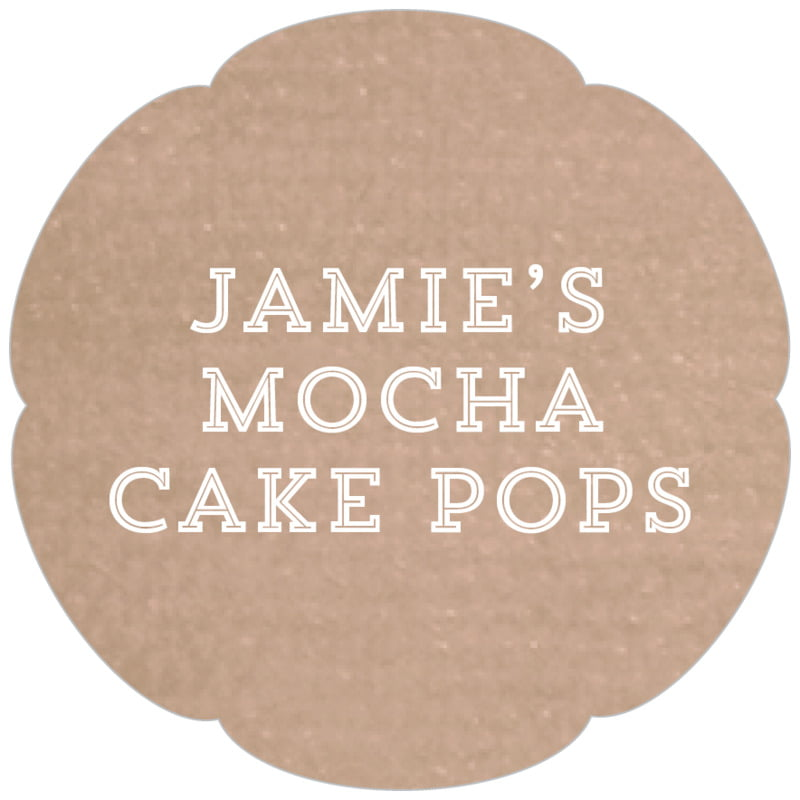 petal food/craft labels - mocha - film edge (set of 30)