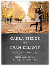Film Edge Save The Date Card In Tuxedo