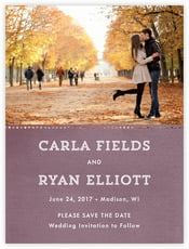 Film Edge save the date cards