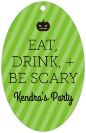Iconic Halloween large oval hang tags