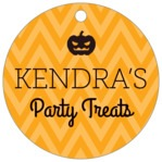 Iconic Halloween circle hang tags