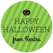 Iconic Halloween large circle labels