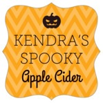Iconic Halloween fancy square labels