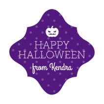 Iconic Halloween fancy diamond labels