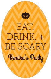 Iconic Halloween tall oval labels