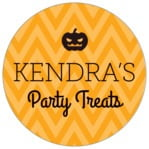 Iconic Halloween circle labels