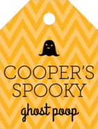Iconic Halloween small luggage tags