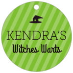 Iconic Halloween Circle Hang Tag In Lime