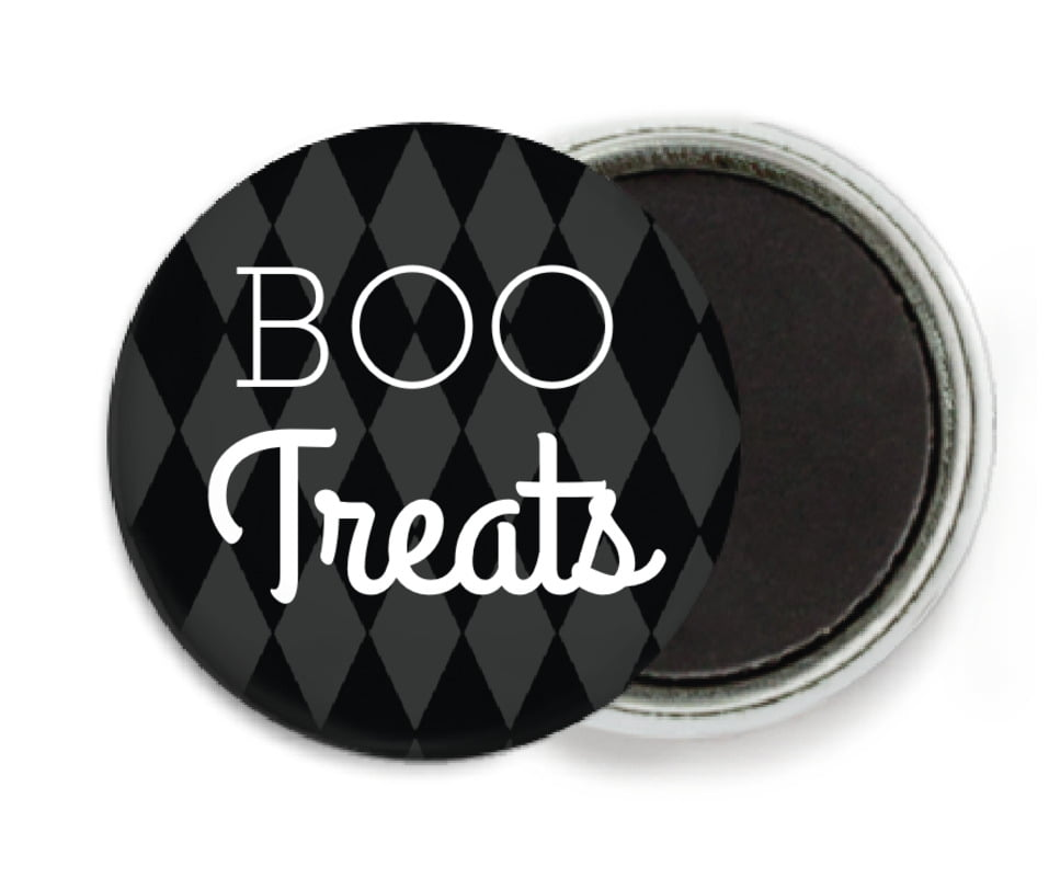 custom button magnets - tuxedo - iconic halloween (set of 6)