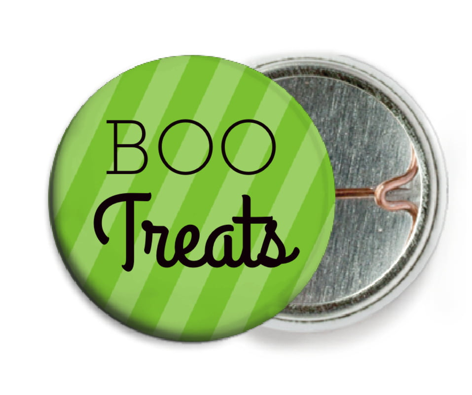 custom pin back buttons - lime - iconic halloween (set of 6)