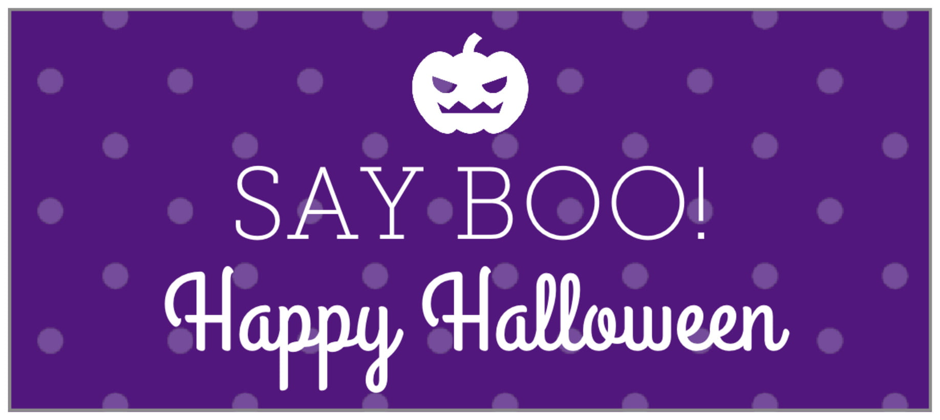 small rectangle food/craft labels - purple - iconic halloween (set of 24)