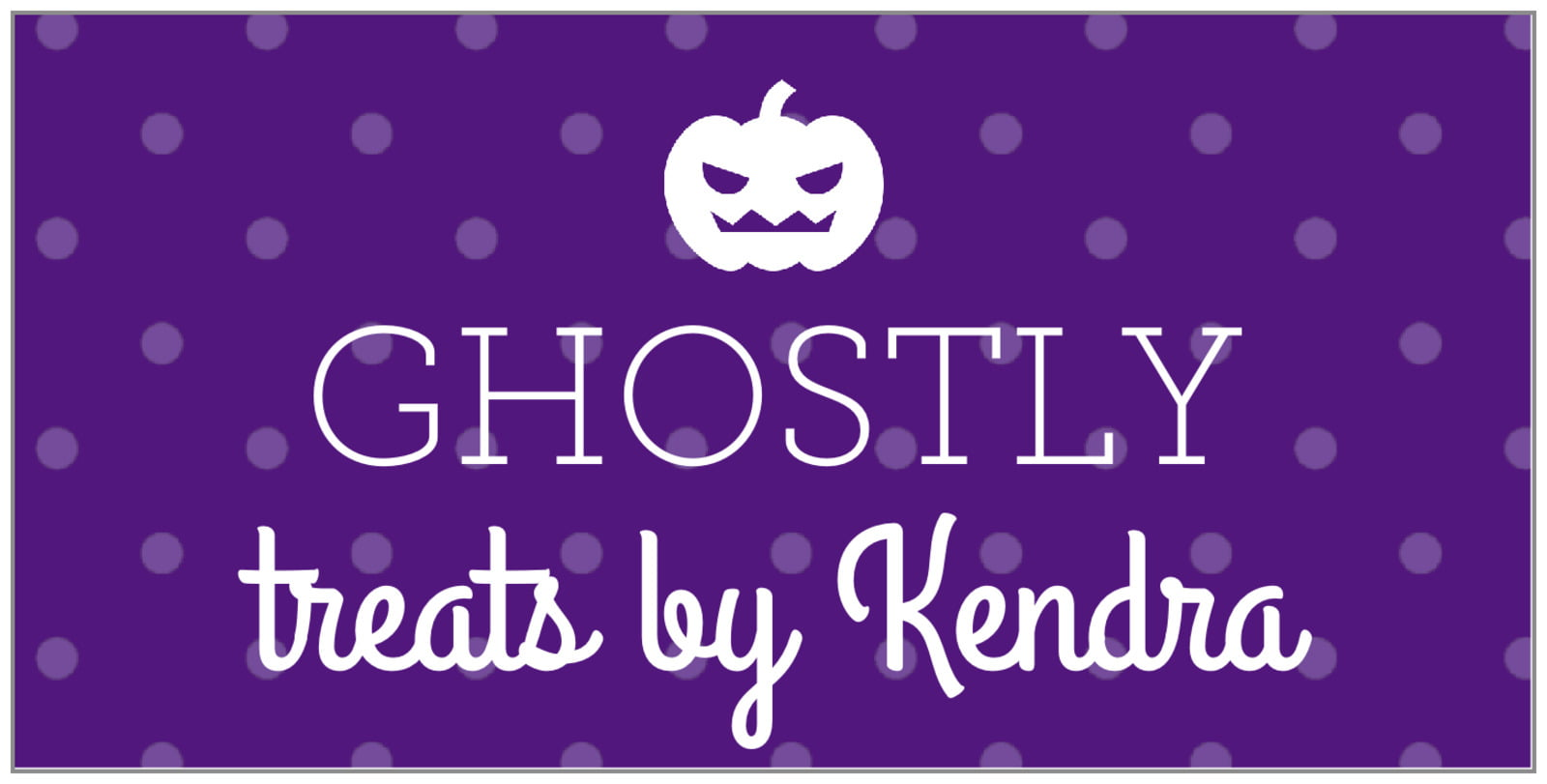 small rectangular food/craft labels - purple - iconic halloween (set of 24)