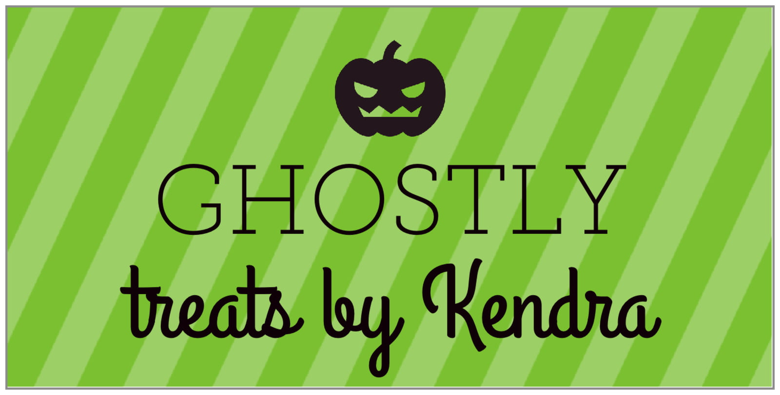 small rectangular food/craft labels - lime - iconic halloween (set of 24)